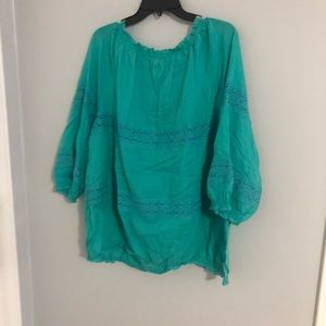 Old Navy Teal blouse; size XXL